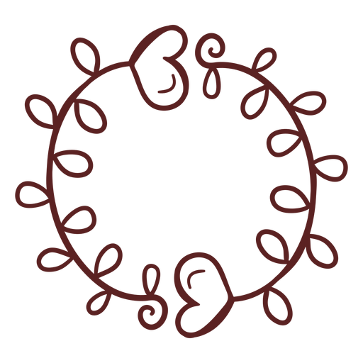 Hand drawn hearts ornament simple stroke