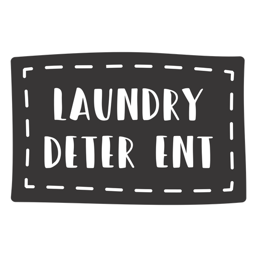 Hand drawn laundry detergent lettering
