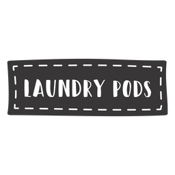 Hand drawn laundry pods lettering