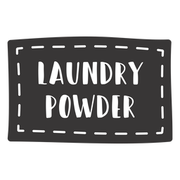 Hand drawn laundry powder lettering