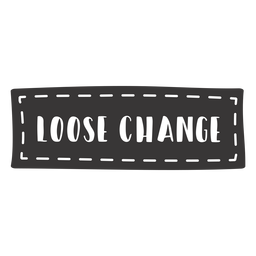 Hand drawn loose change lettering
