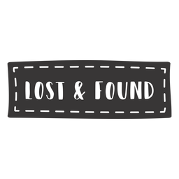 Hand drawn lost found lettering