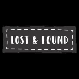 Hand gezeichnete verlorene gefundene Beschriftung