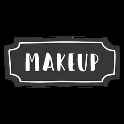 Etiqueta de maquillaje dibujado a mano