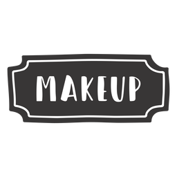 Hand drawn makeup label