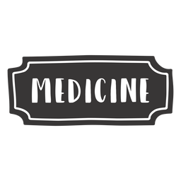 Hand drawn medicine label