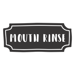 Hand drawn mouth rinse label