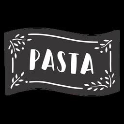Etiqueta de pasta dibujada a mano