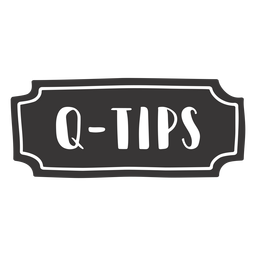 Dibujado a mano q etiqueta de consejos