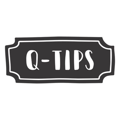 Hand drawn q tips label