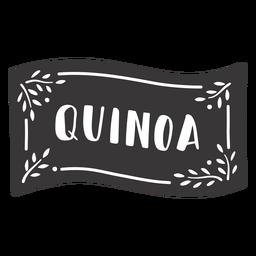 Etiqueta de quinua dibujada a mano