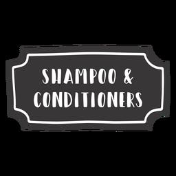 Hand drawn shampoo conditioner label
