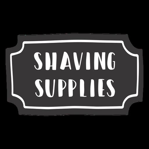 Hand drawn shaving supplies label