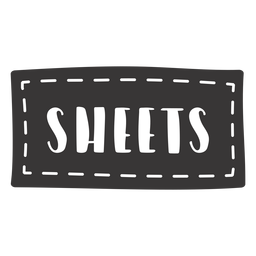 Hand drawn sheets lettering
