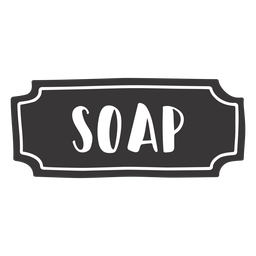 Hand drawn soap label