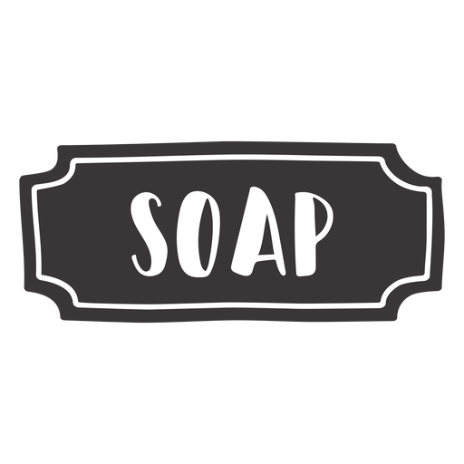 Hand drawn soap label Transparent PNG