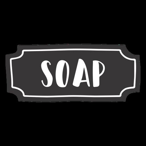 Hand drawn soap label
