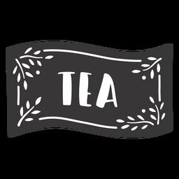 Hand drawn tea label