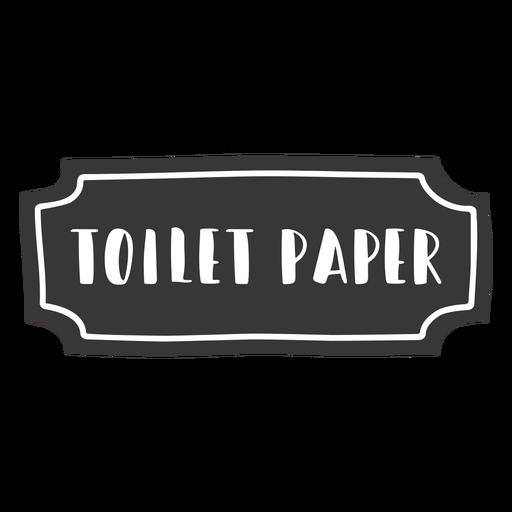 Etiqueta de papel higiénico dibujada a mano