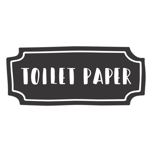 Hand drawn toilet paper label