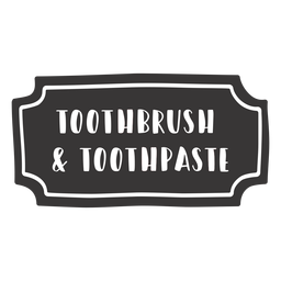 Hand drawn toothbrush toothpaste label