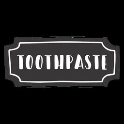 Etiqueta de pasta de dientes dibujada a mano