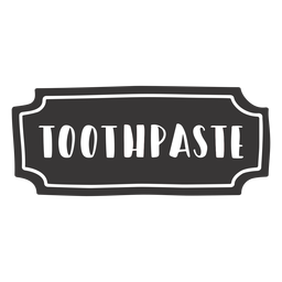 Hand drawn toothpaste label
