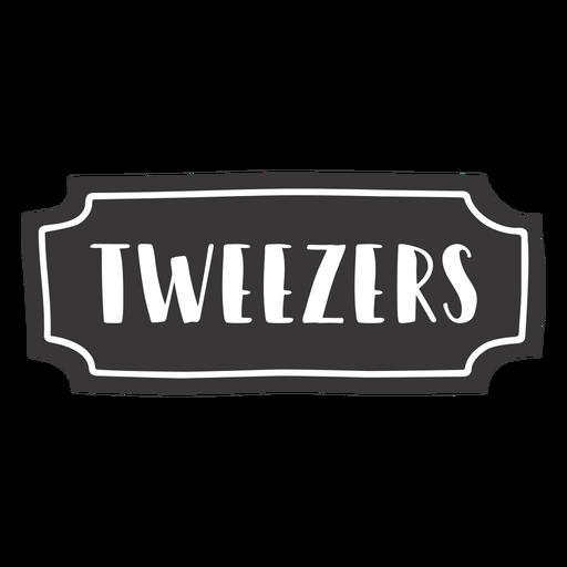 Hand drawn tweezers label Transparent PNG