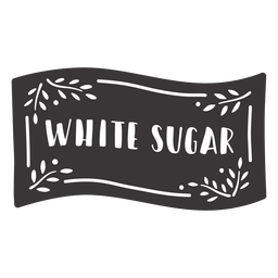 Hand drawn white sugar label
