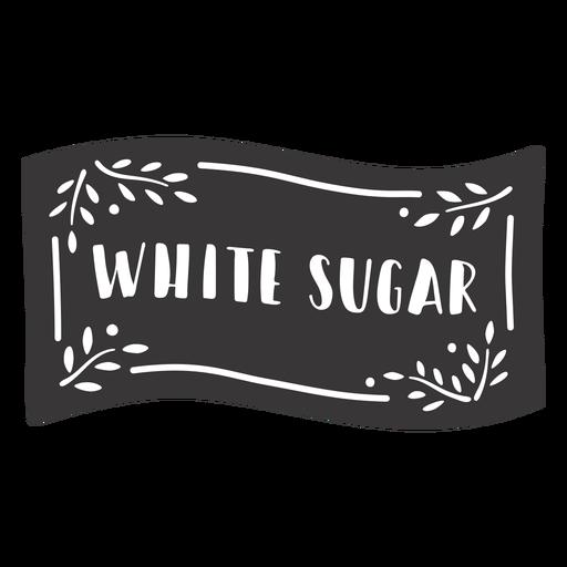 Hand drawn white sugar label