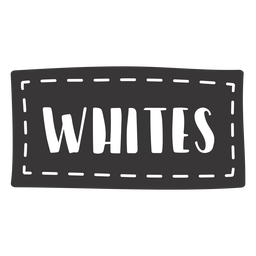 Hand drawn whites lettering