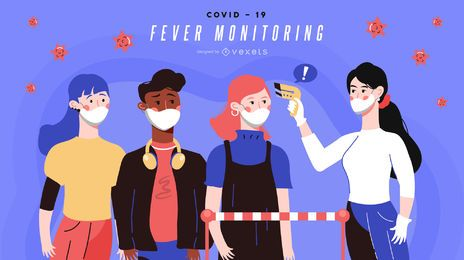 Banner de monitoreo de fiebre Covid-19