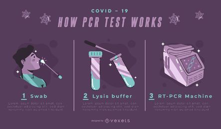 Covid-19 PCR test infographic template