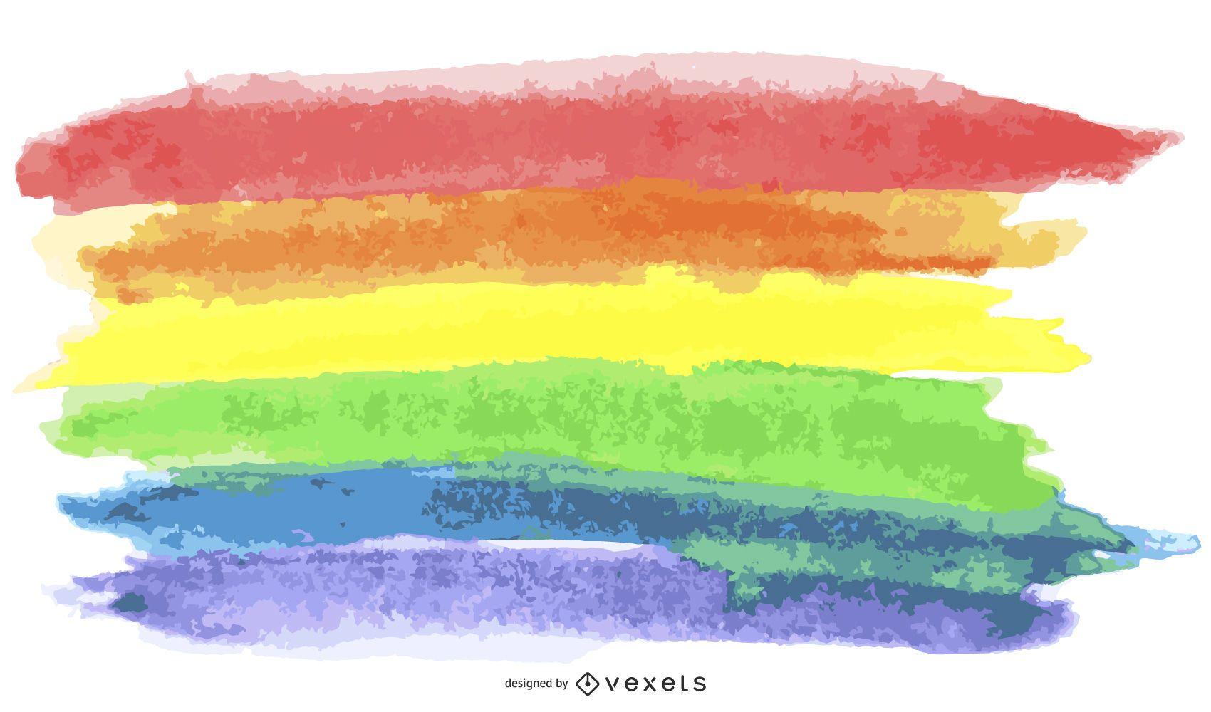 Aguarela da bandeira do orgulho LGBT