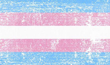 Transgender pride flag grunge