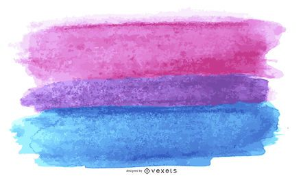 Bisexual pride flag watercolor