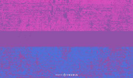 Bandeira do orgulho bissexual grunge