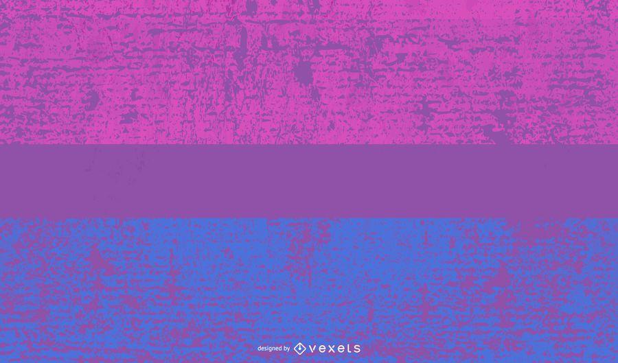 Grunge de bandera de orgullo bisexual