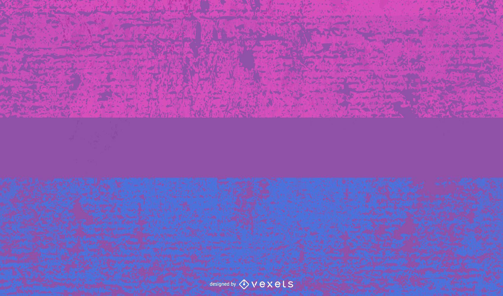 Bisexual pride flag grunge