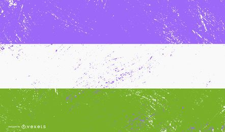 Grunge de bandeira de orgulho estranho