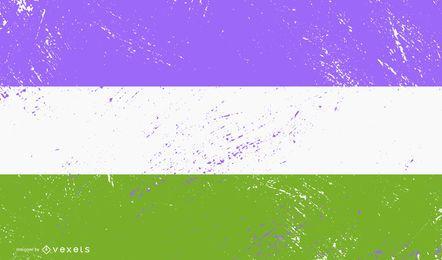 Grunge de la bandera del orgullo queer