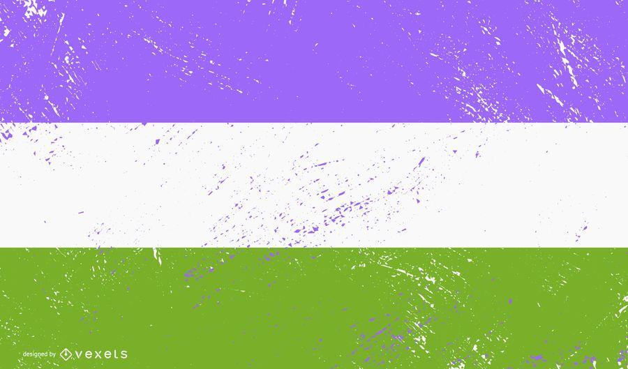 Bandera de orgullo gay grunge
