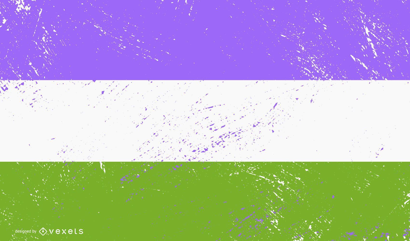 Queer pride flag grunge