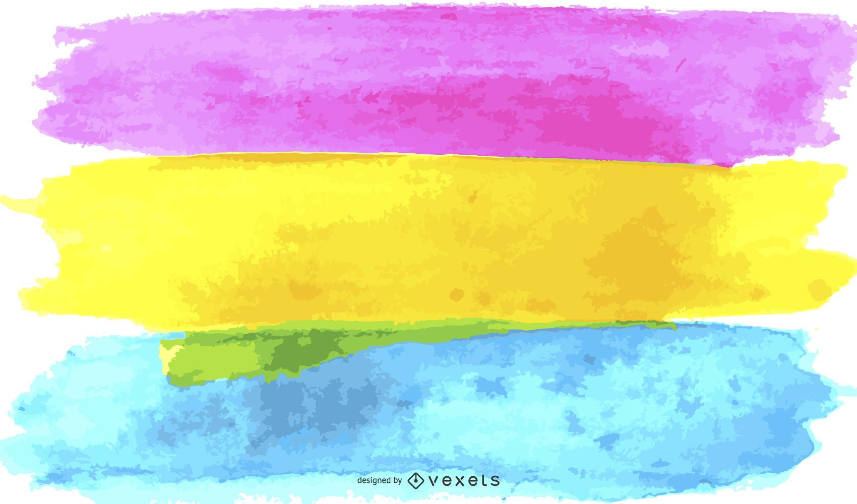Pansexual pride flag watercolor