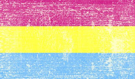 Bandeira do orgulho pansexual grunge