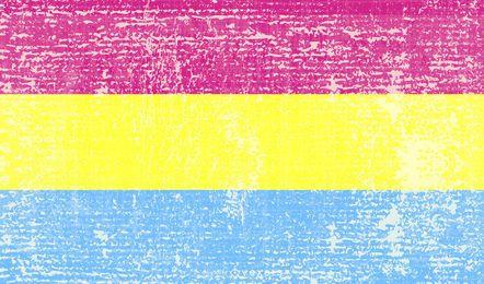 Pansexual pride flag grunge