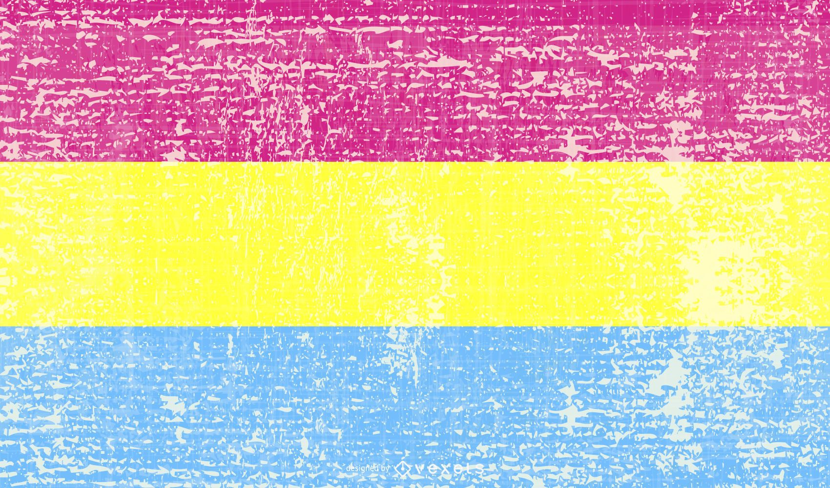 Bandera del orgullo pansexual grunge