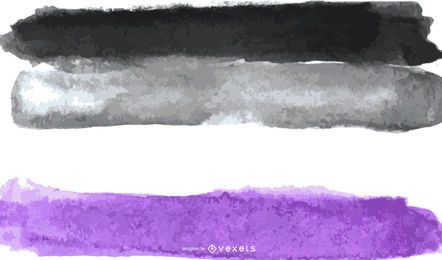 Asexual pride flag watercolor