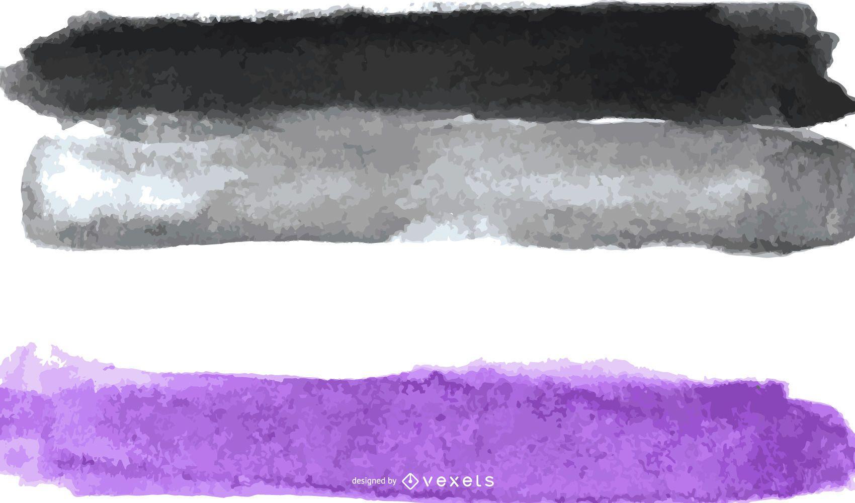 Bandera de orgullo asexual acuarela