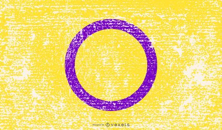 Bandera de orgullo intersexual grunge
